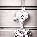 Two vintage hearts Print by Jane Rix