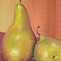 Two Yellow Pears Blenda Studio by Blenda Studio