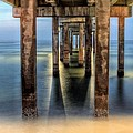 Under the Gulf Shores Pier Print by JC Findley