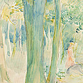 Under The Trees In The Wood by Berthe Morisot