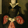 Unknown Lady From The Court Of King by Hans Eworth or Ewoutsz