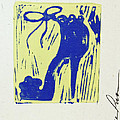 Untitled Shoe Print In Blue And Green by Lauren Luna