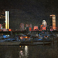 Urban Boston Skyline Print by Joann Vitali