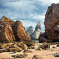 Ursa Beach Rocks by Carlos Caetano