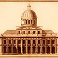 U.s. Capitol Design 1791 by Mountain Dreams