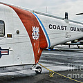 Us Coast Guard Helicopter by Paul Ward