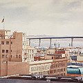 Us Grant Hotel In San Diego by Mary Helmreich