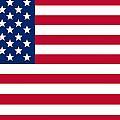 USA flag Print by Tilen Hrovatic