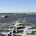 Uss Enterprise Arrives At Naval Station by Stocktrek Images