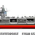 Uss Enterprise Cvn 65 1969 by George Bieda