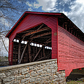 Utica Mills Covered Bridge Poster by Joan Carroll