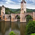 Valentre Bridge In Cahors France by Elena Elisseeva
