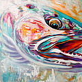 Vanishing Native - Steelhead Trout Flyfishing Art by Savlen Art