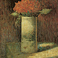 Vase Of Flowers by Georges Seurat