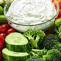 Vegetables And Dip by Elena Elisseeva