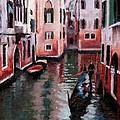 Venice Gondola Ride by Janet King