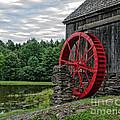 Vermont Grist Mill Print by Edward Fielding