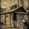 Vermont Maple Sugar Shack Circa 1954 by Edward Fielding