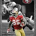 Vernon Davis 49ers by Joe Hamilton