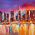Vibrant New York City Skyline by Manit