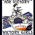 VICTORY GIRLS of W W 1     1918 Print by Daniel Hagerman