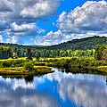 View From The Green Bridge In Old Forge Ny by David Patterson