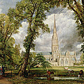 View of Salisbury Cathedral from the Bishop's Grounds Print by John Constable