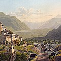 View Of Sion, Illustration From Voyage by Gabriel L. & Lory, Mathias G. Lory