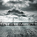 View Point on the Pier Print by Mark Rogan