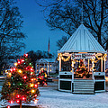 Village Green Holiday Greetings- New Milford Ct - Print by Thomas Schoeller
