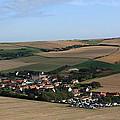 Village In A French Landscape  by Aidan Moran