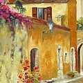Village In Provence by Chris Brandley