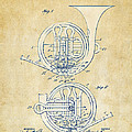 Vintage 1914 French Horn Patent Artwork by Nikki Marie Smith