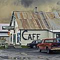 Vintage Alaska Cafe by Ron Day