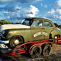 Vintage American Military Police Car by Kathy Fornal