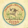 Vintage Cheese Label 1 by Debbie DeWitt