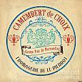 Vintage Cheese Label 4 by Debbie DeWitt