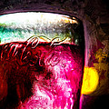 Vintage Coca Cola Glass With Ice Print by Bob Orsillo