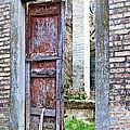 Vintage Doorway Print by Susan  Schmitz
