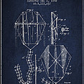 Vintage Folding Kite Patent From 1892 by Aged Pixel