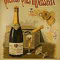 Vintage French Poster Andrieux Wine by Olivier Le Queinec