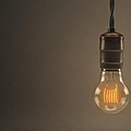 Vintage Hanging Light Bulb Print by Scott Norris