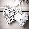 Vintage hearts Print by Jane Rix
