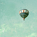 Vintage Inspired Hot Air Balloon In Red White And Blue by Brooke Ryan