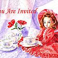 Vintage Invitation Print by Irina Sztukowski