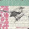 Vintage Songbird 4 by Debbie DeWitt