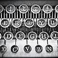Vintage Typewriter Print by Edward Fielding