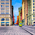 Vintage View Of New York City - Union Square by Mark E Tisdale