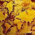 Vintage World Map by Zaira Dzhaubaeva