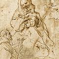 Virgin And Child With St. Francis by Federico Fiori Barocci or Baroccio